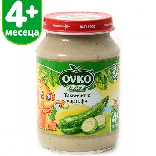 Овко Бебешко пюре /Тиквички с картофи/ 190 гр. 4м.